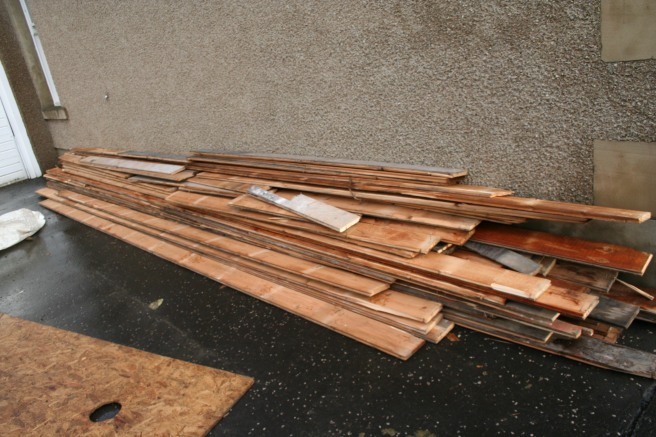 all the floorboards