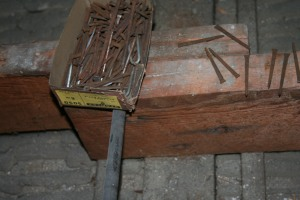 the old nails with their box (arranged by John)