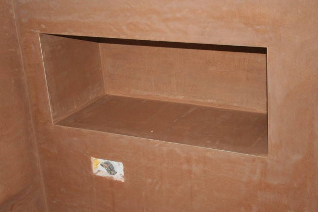 little recessed shelf