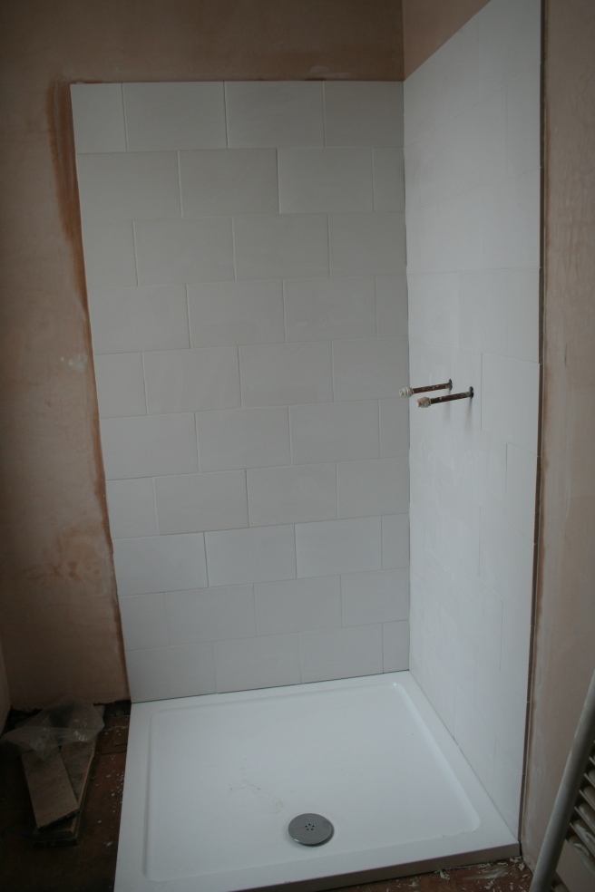 corner that will be the shower