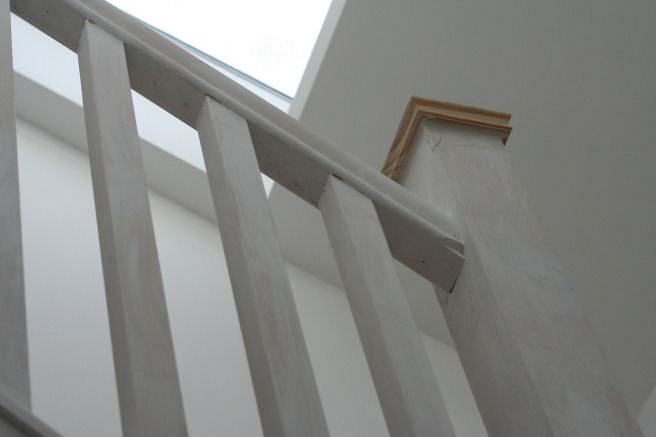 new look bannister with cap on