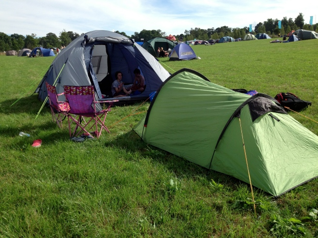 our little campsite, plenty of room in the family area, not too far from the action but miles from the car