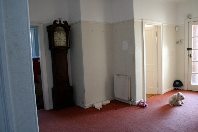 the day the carpet went, before the deed was done