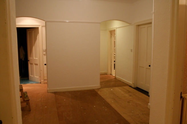 after the peach had gone, looks so much better already, the walls are white too