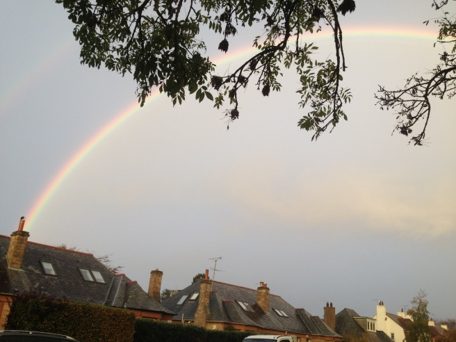 there was a feint secondary rainbow there too, amazing and so vibrant