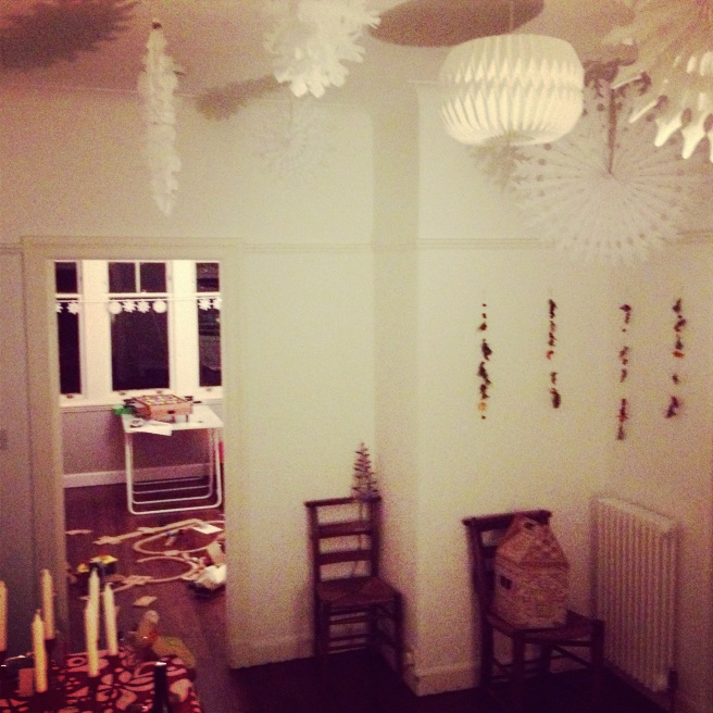 view from the stairs this festive period