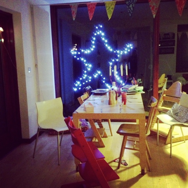 view from the kitchen this festive season