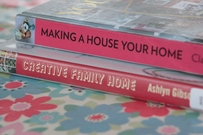 Two more books from the library, highly recommended for decorating ideas if the polished interior decorator look is not for you. Making a House Your Home - Clare Nolan Creative Family Home - Ashlyn Gibson